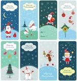 Conjunto de banderas de la Navidad Fotografía de archivo