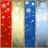 Conjunto de banderas de la Navidad Foto de archivo