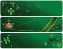 Conjunto de banderas del día del St. Patrick Imagen de archivo libre de regalías