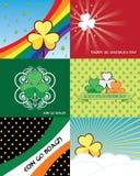 Conjunto de banderas del día del St. Patricks Imagen de archivo libre de regalías