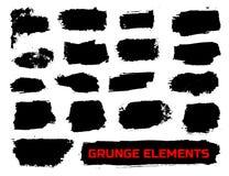 Conjunto de banderas del grunge Imagen de archivo libre de regalías