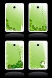 Conjunto de banderas del verde del vector Fotos de archivo libres de regalías