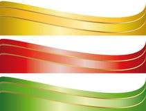 Conjunto de banderas ilustradas de la cinta Imagenes de archivo