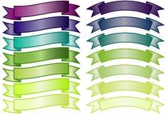 Conjunto de banderas simples ilustración del vector