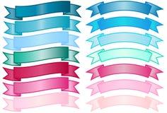 Conjunto de banderas simples Imagen de archivo