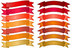 Conjunto de banderas simples Imagen de archivo libre de regalías