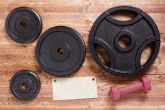 Conjunto de Barbells Imagen de archivo libre de regalías