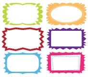 Conjunto de bastidores coloridos Fotografía de archivo libre de regalías