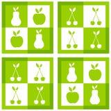 Conjunto de bastidores de la fruta Imágenes de archivo libres de regalías