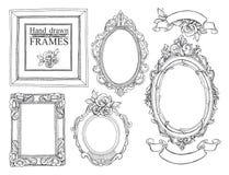 Conjunto de bastidores de la vendimia Fotos de archivo libres de regalías