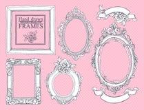Conjunto de bastidores de la vendimia Imagenes de archivo
