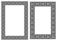 Conjunto de bastidores de la vertical del nouveau del arte Foto de archivo libre de regalías