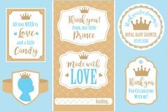 Conjunto de bastidores de la vendimia El regalo de las plantillas marca con etiqueta para la boda real del partido, fiesta de bie Imagen de archivo