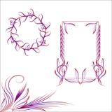 Conjunto de bastidores ornamentales ilustración del vector