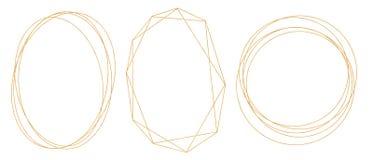 Conjunto de bastidores de oro ilustración del vector
