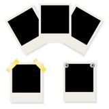 Conjunto de bastidores polaroid de la foto Fotografía de archivo