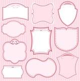 Conjunto de bastidores rosados Imagenes de archivo
