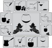 Conjunto de bebidas Foto de archivo