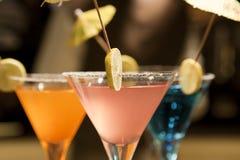 Conjunto de bebidas de la limonada Imagen de archivo libre de regalías