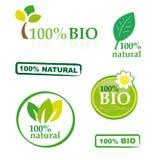 Conjunto de bio elementos Imagen de archivo