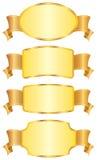 Conjunto de blindajes y de cintas del diseño. Foto de archivo libre de regalías
