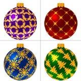 Conjunto de bolas de la Navidad Imagenes de archivo