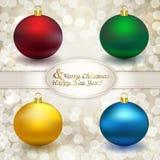 Conjunto de bolas de la Navidad Imagen de archivo