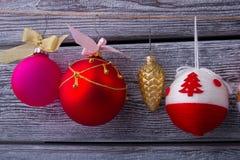 Conjunto de bolas de la Navidad Fotos de archivo libres de regalías