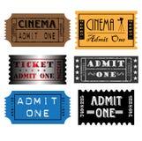 Conjunto de boletos coloridos Imagen de archivo libre de regalías