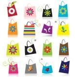 Conjunto de bolsos de compras stock de ilustración