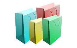 Conjunto de bolsos de compras Imagen de archivo
