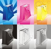 Conjunto de bolsos del color Imagen de archivo libre de regalías