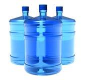 Conjunto de botellas grandes de agua Foto de archivo