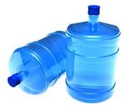 Conjunto de botellas grandes de agua Foto de archivo libre de regalías