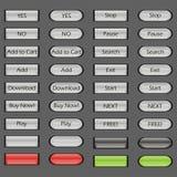 Conjunto de botones Imagen de archivo