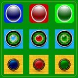 Conjunto de botones Imágenes de archivo libres de regalías