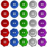 Conjunto de botones Fotografía de archivo