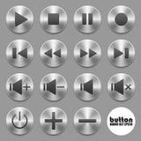 Conjunto de botones audios Foto de archivo libre de regalías