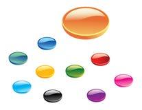 Conjunto de botones brillantes del Web 3D Foto de archivo