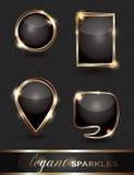 Conjunto de botones chispeantes del Web Imagen de archivo