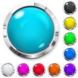 Conjunto de botones coloreados Fotos de archivo libres de regalías