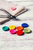 Conjunto de botones coloreados Foto de archivo