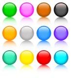 Conjunto de botones coloreados Imagenes de archivo