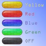 Conjunto de botones coloreados del Web ilustración del vector