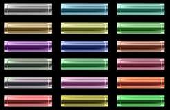 Conjunto de botones coloreados metálicos del Web Foto de archivo