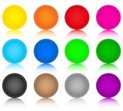 Conjunto de botones coloreados vidrio Imagen de archivo