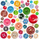 Conjunto de botones coloridos Fotografía de archivo libre de regalías