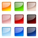 Conjunto de botones cuadrados del Web site Foto de archivo libre de regalías