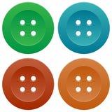 Conjunto de botones de costura coloridos Imagenes de archivo