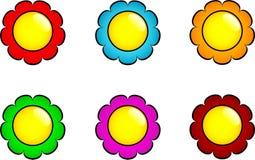 Conjunto de botones de la flor Imagen de archivo